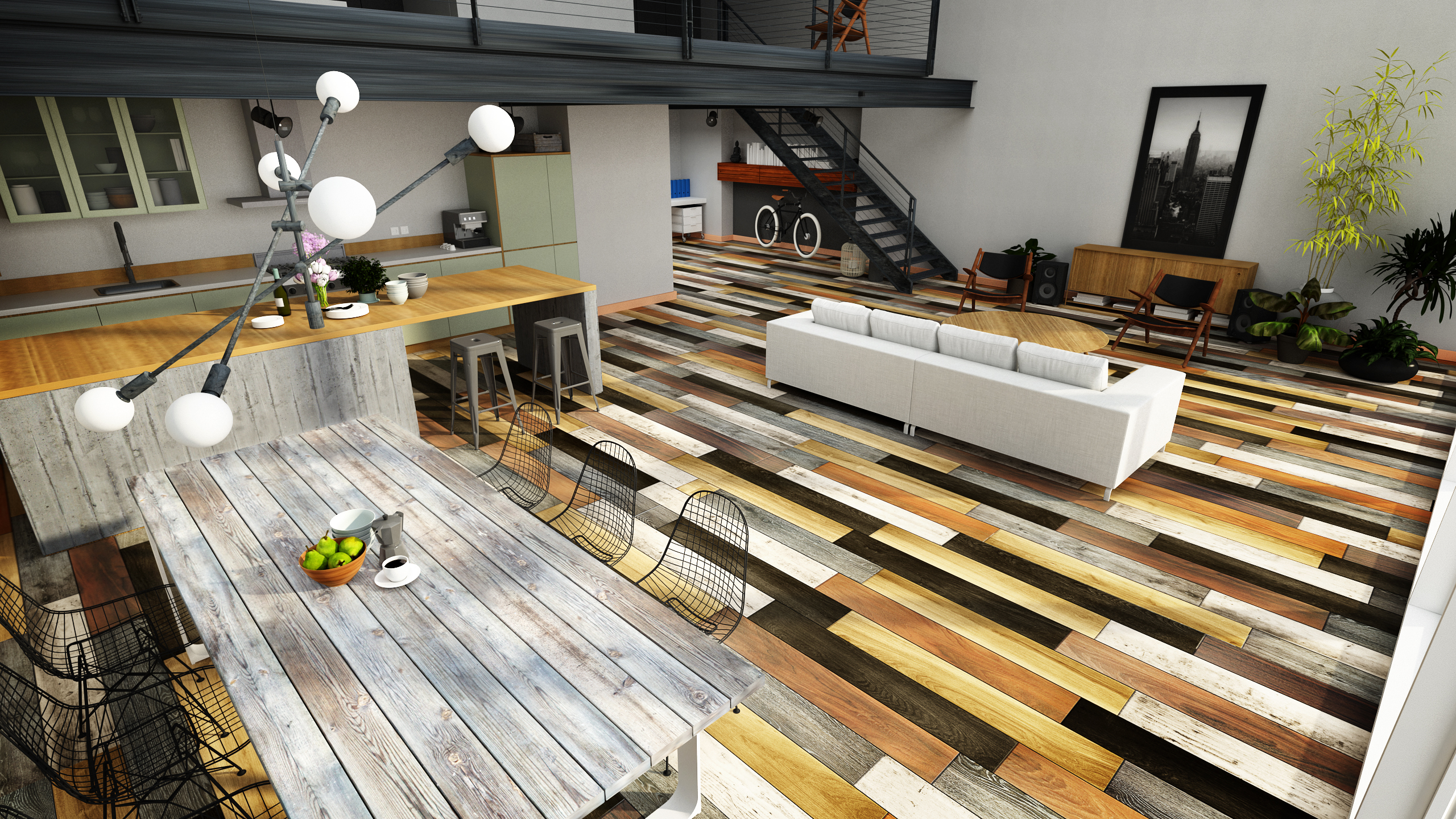 3d wooden floor visualization