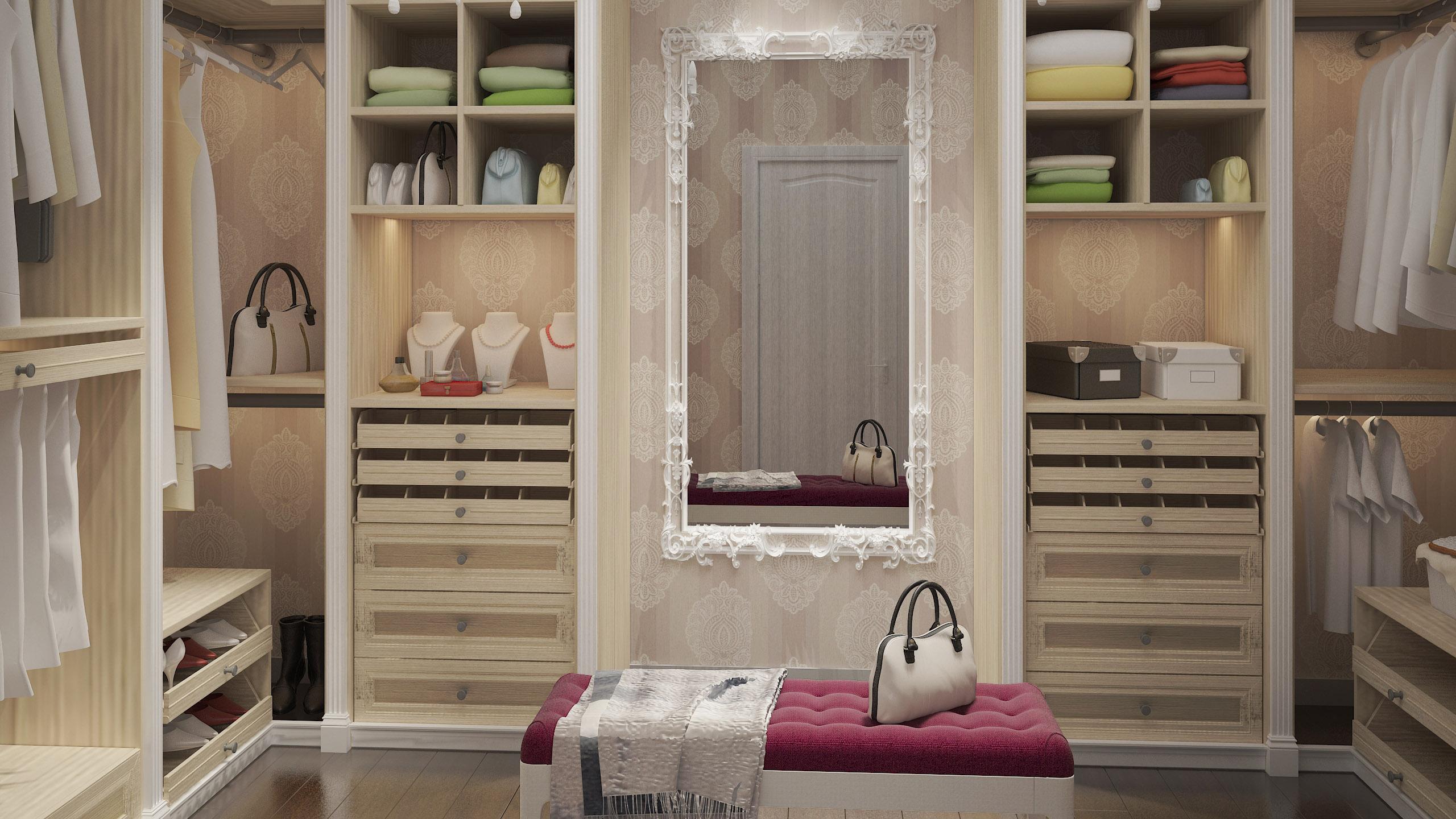 Closet interior 3d room