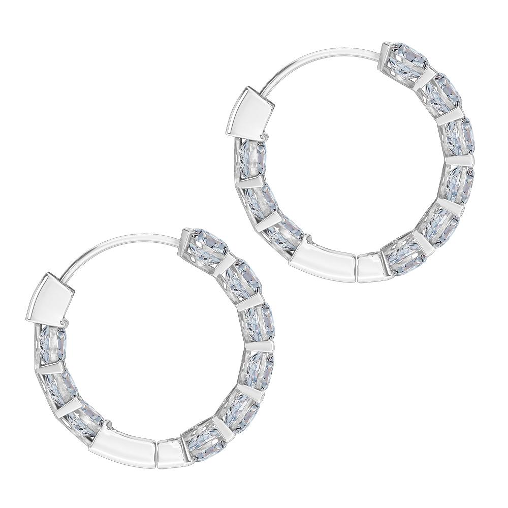 Hoop Earrings white gold