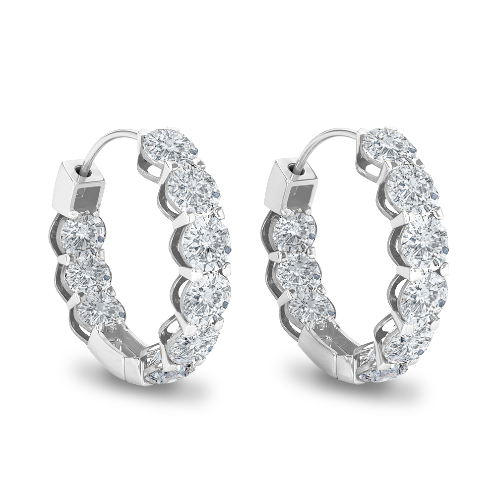 Hoop Earrings white gold