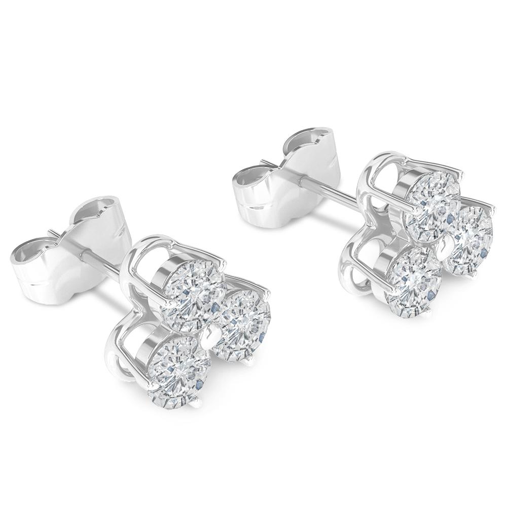 3d Brilliant Earrings white gold model