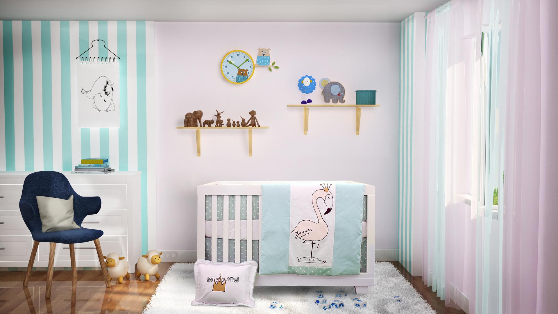 baby room interior visualization