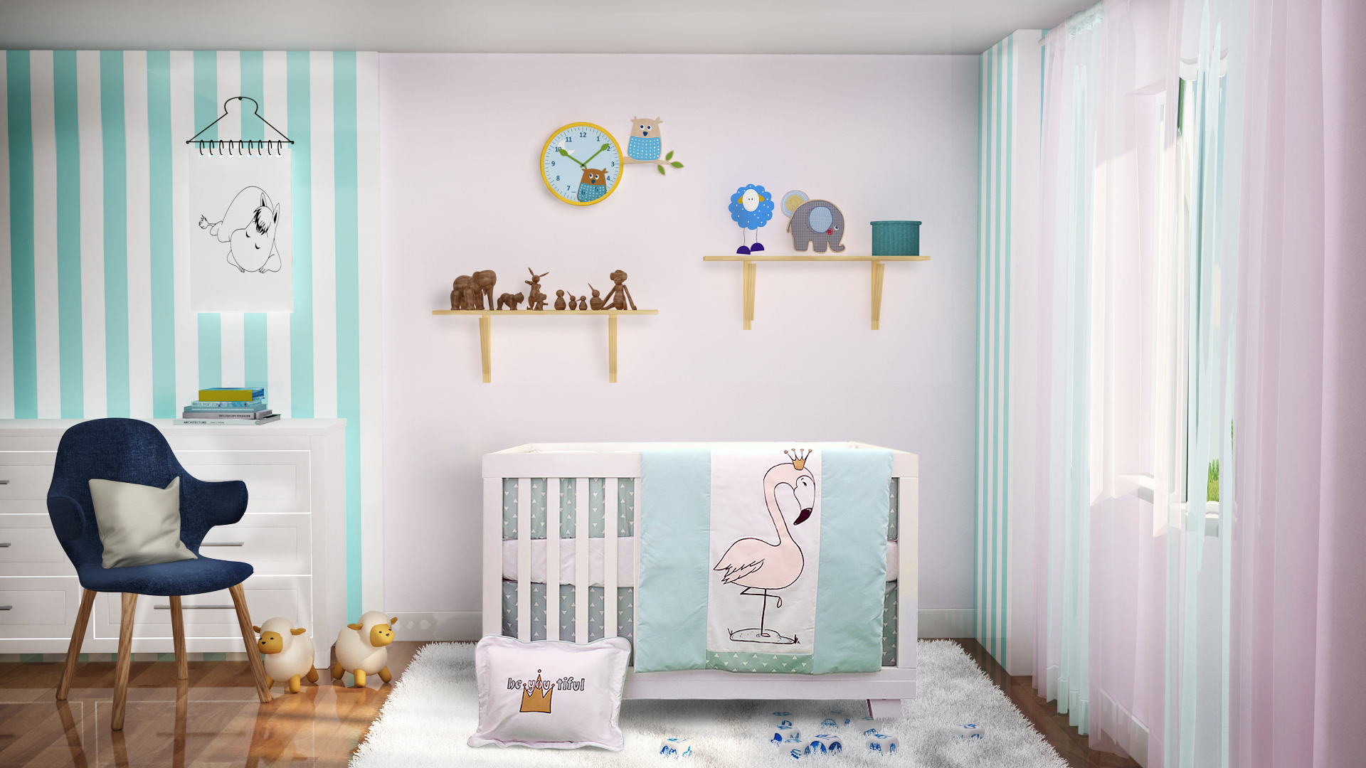 3d baby room interior