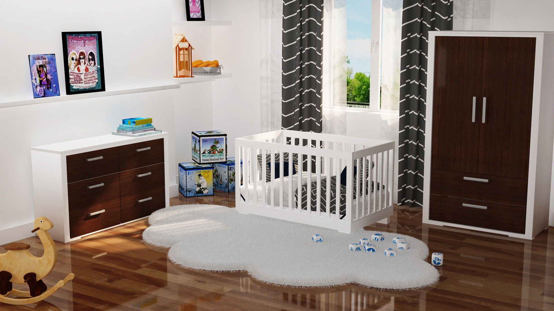 baby room interior visualization