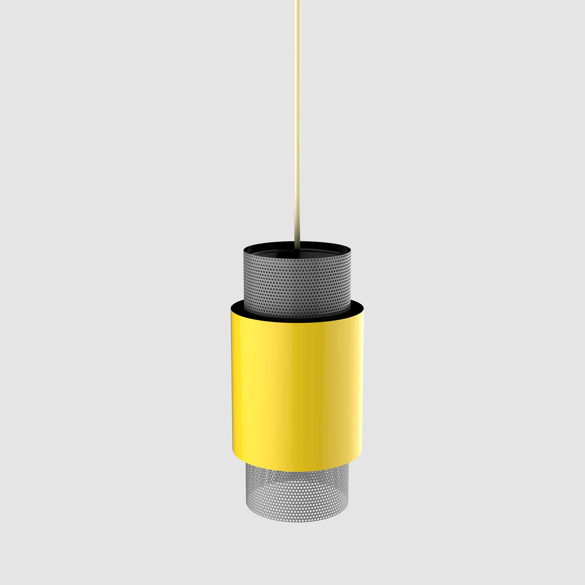 Minimalist Hanging Yellow Lamp  - 3D Model