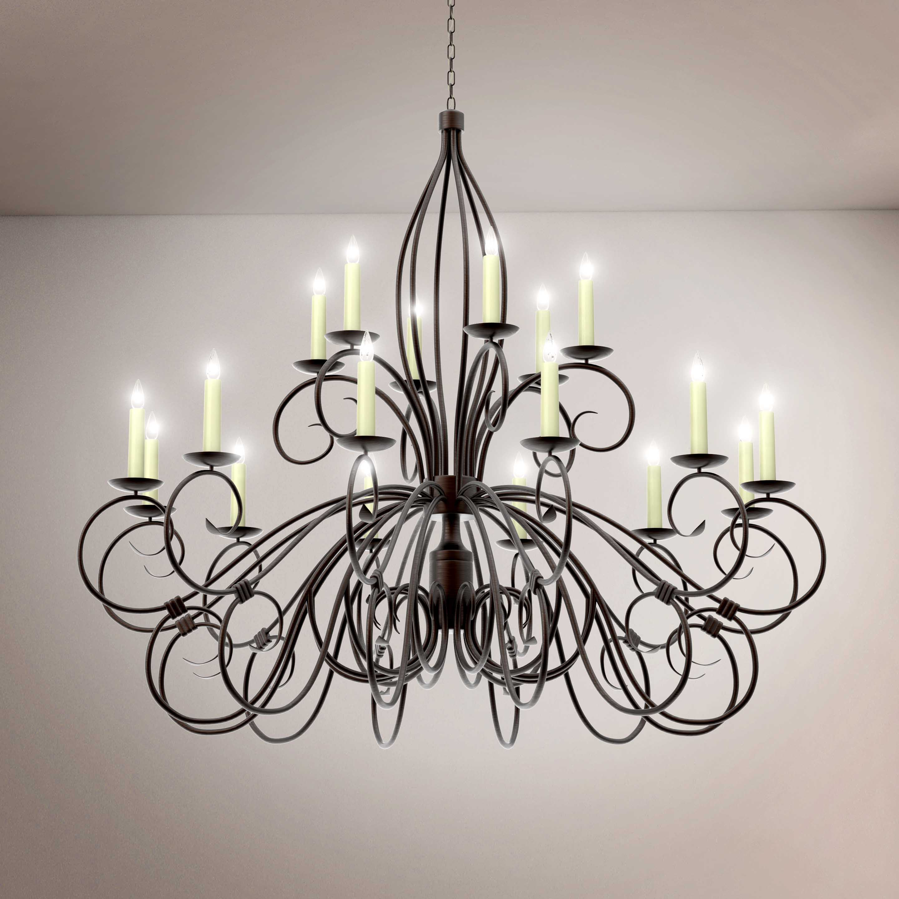 Elegant Luxury Vintage Crystal Chandelier - 3D Product