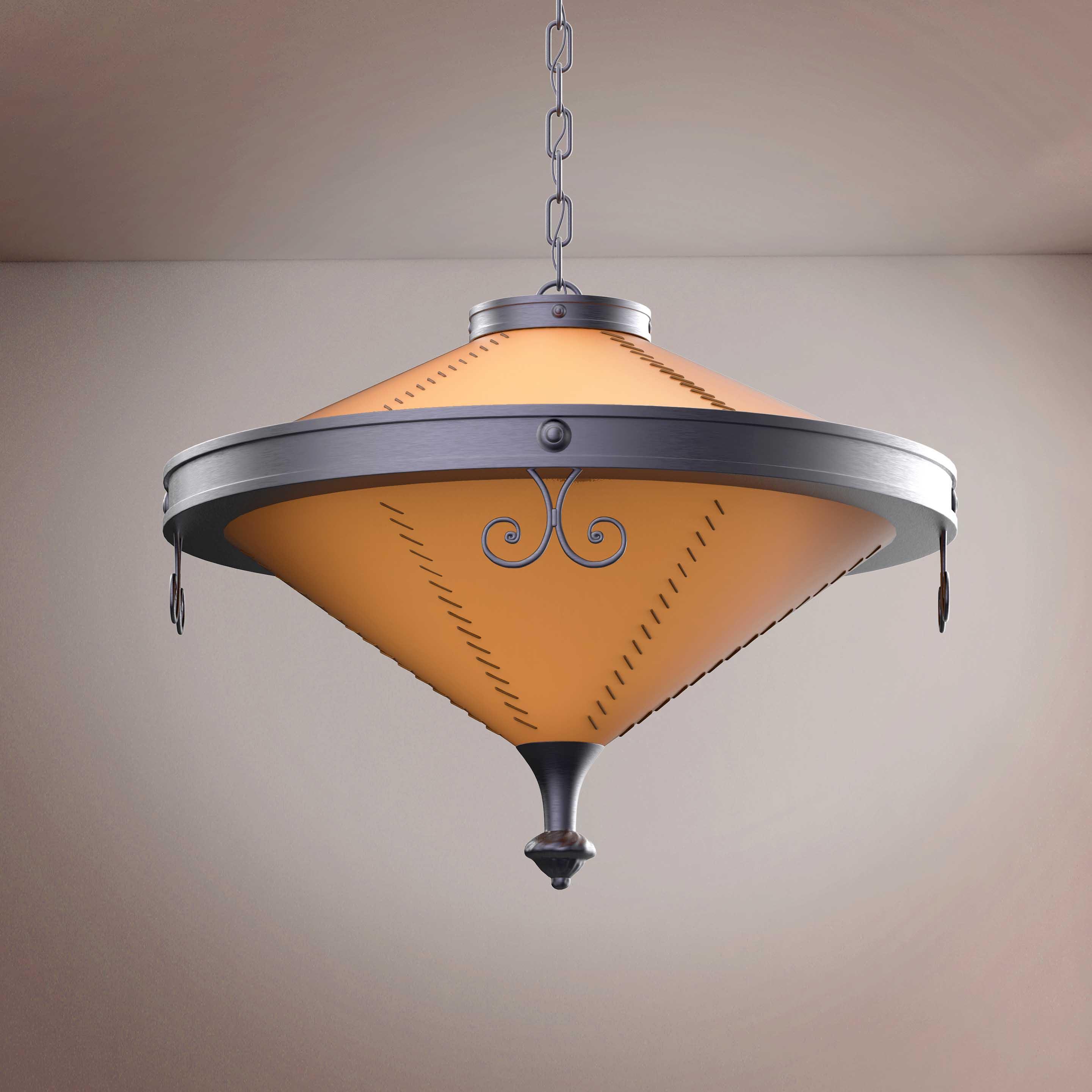 Vintage Round Ornament Chandelier - 3D Product