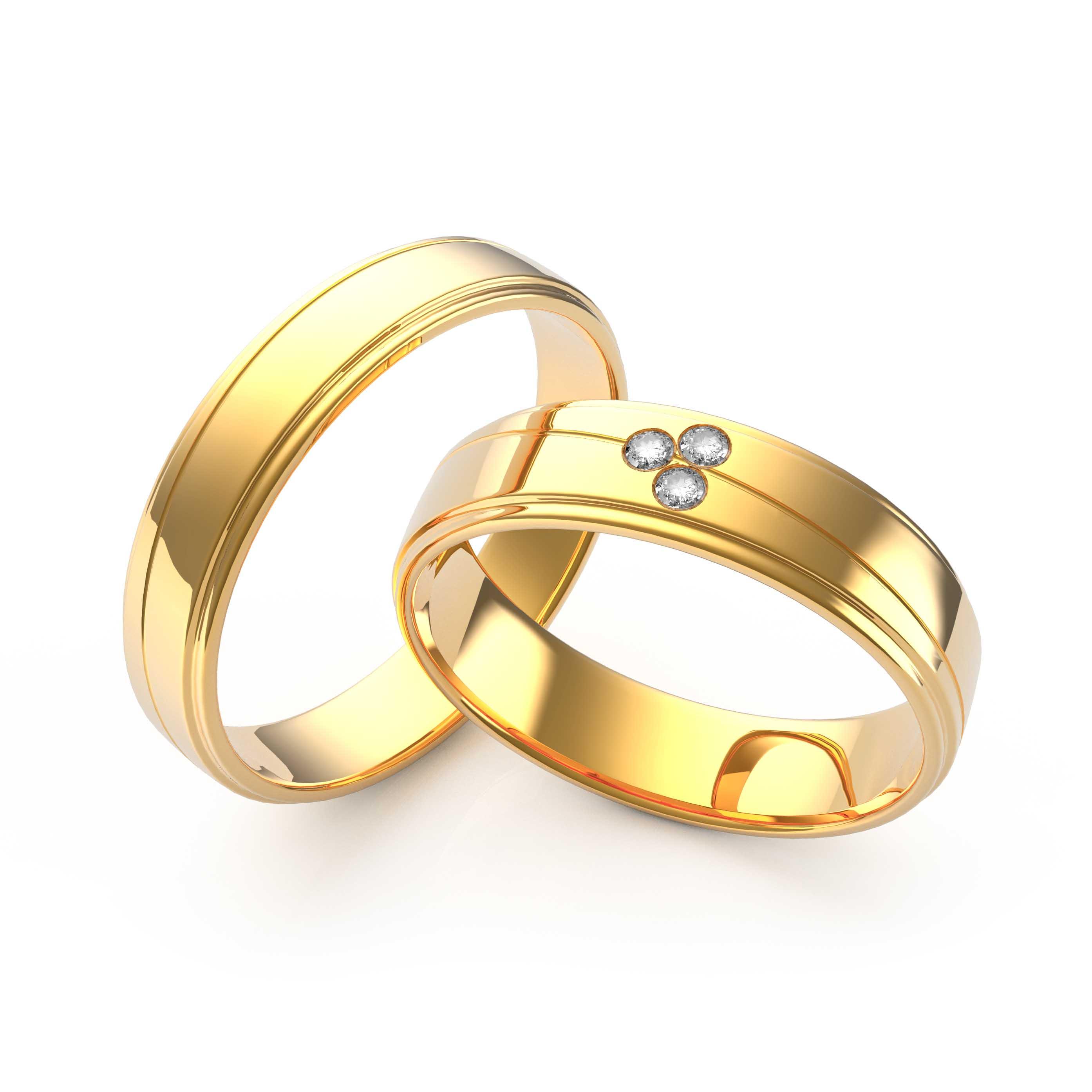 Rings Set Gold - 3D Model