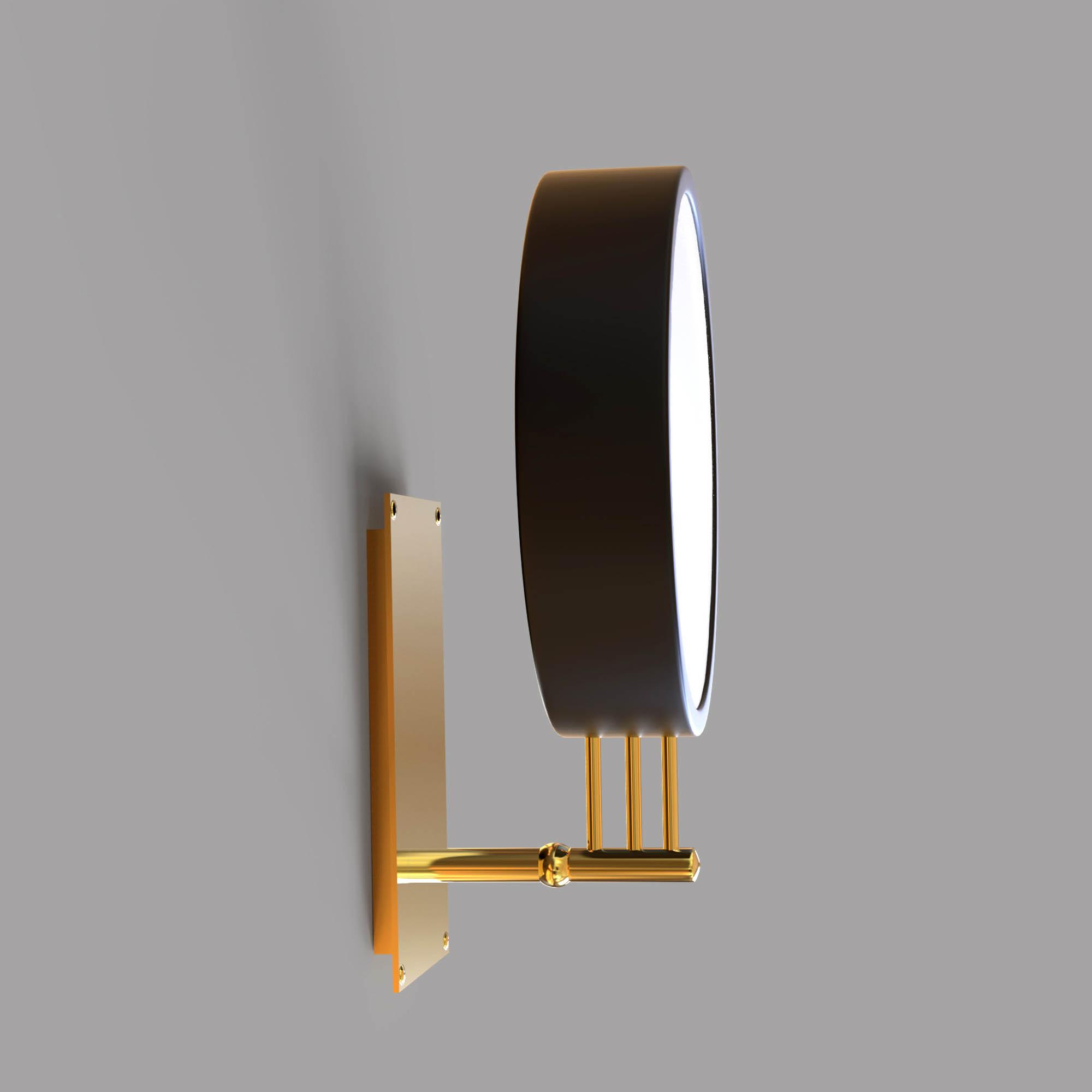 Round Minimalist Elegant Golden and Black  Lamp - 3D Model
