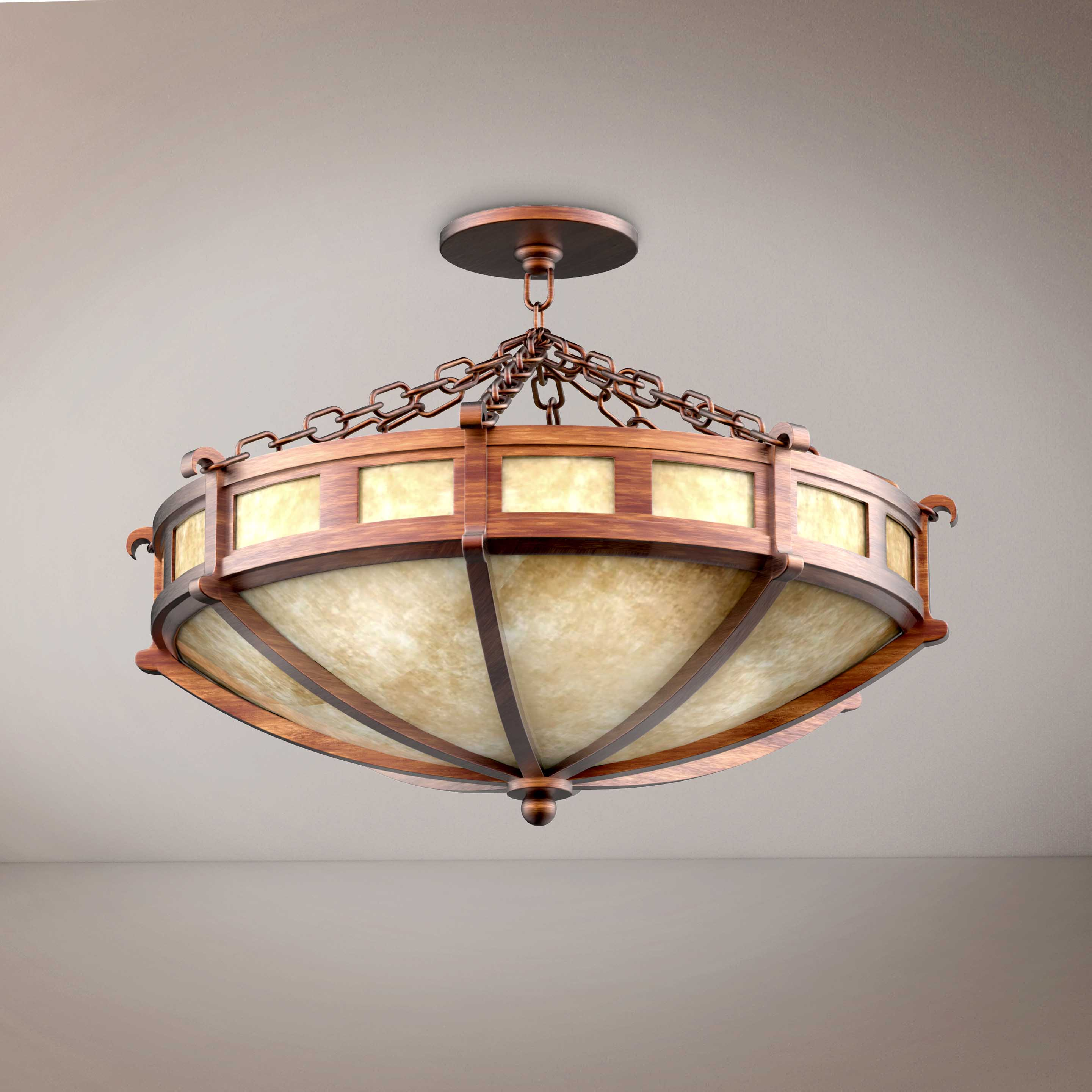 Round  Vitage Large Chandelier - 3D Product