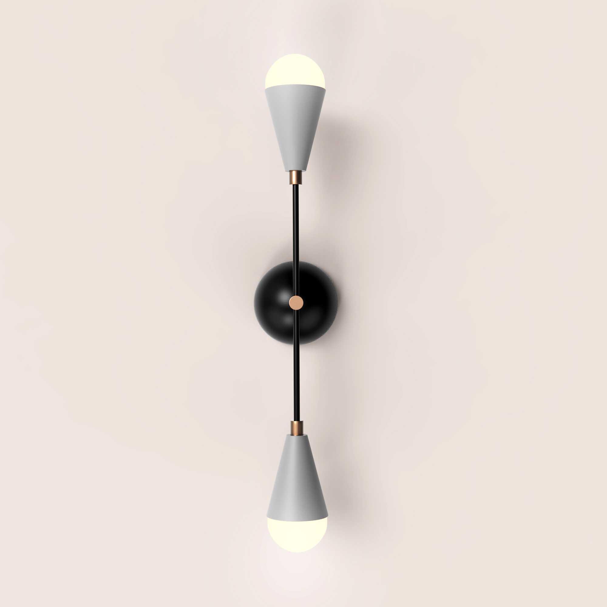 Minimalist Elegant Silver and Black Wall Lamp  - 3D Model