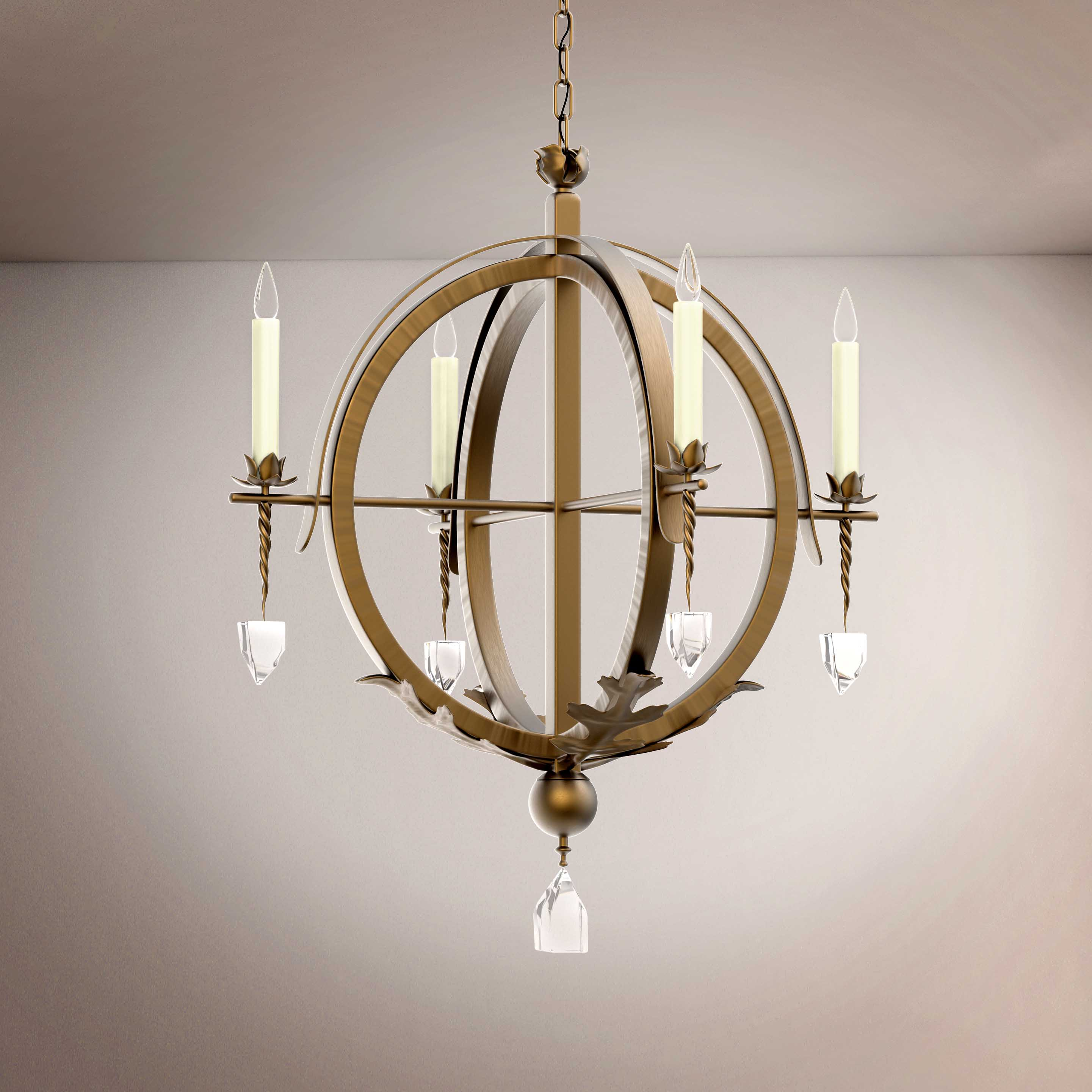 Vintage Sphere  Style Hanging Chandelier - 3D Product
