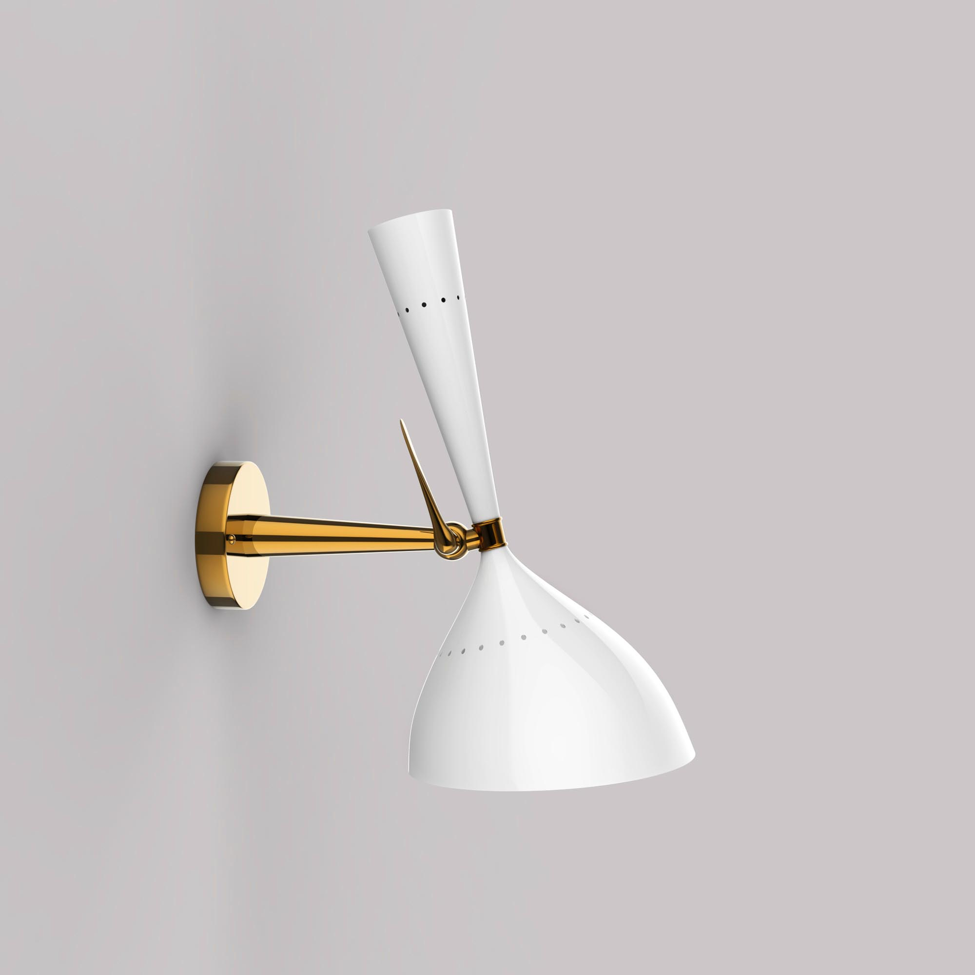 Minimalist Elegant White Wall Lamp - 3D Model