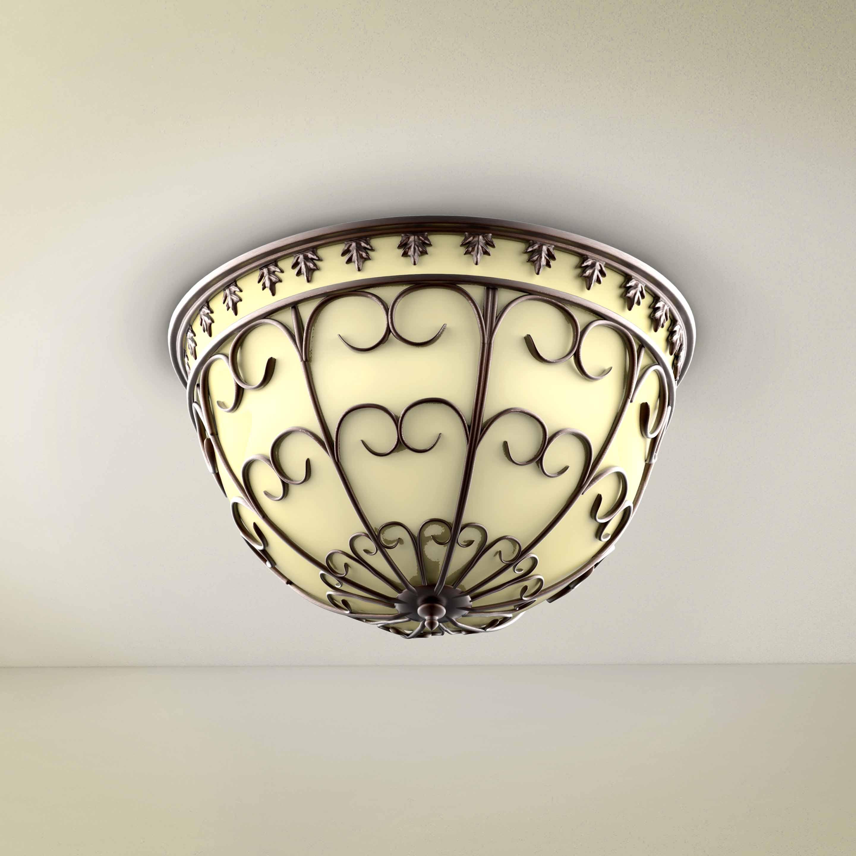 Round Vintage Ornament Chandelier - 3D Product