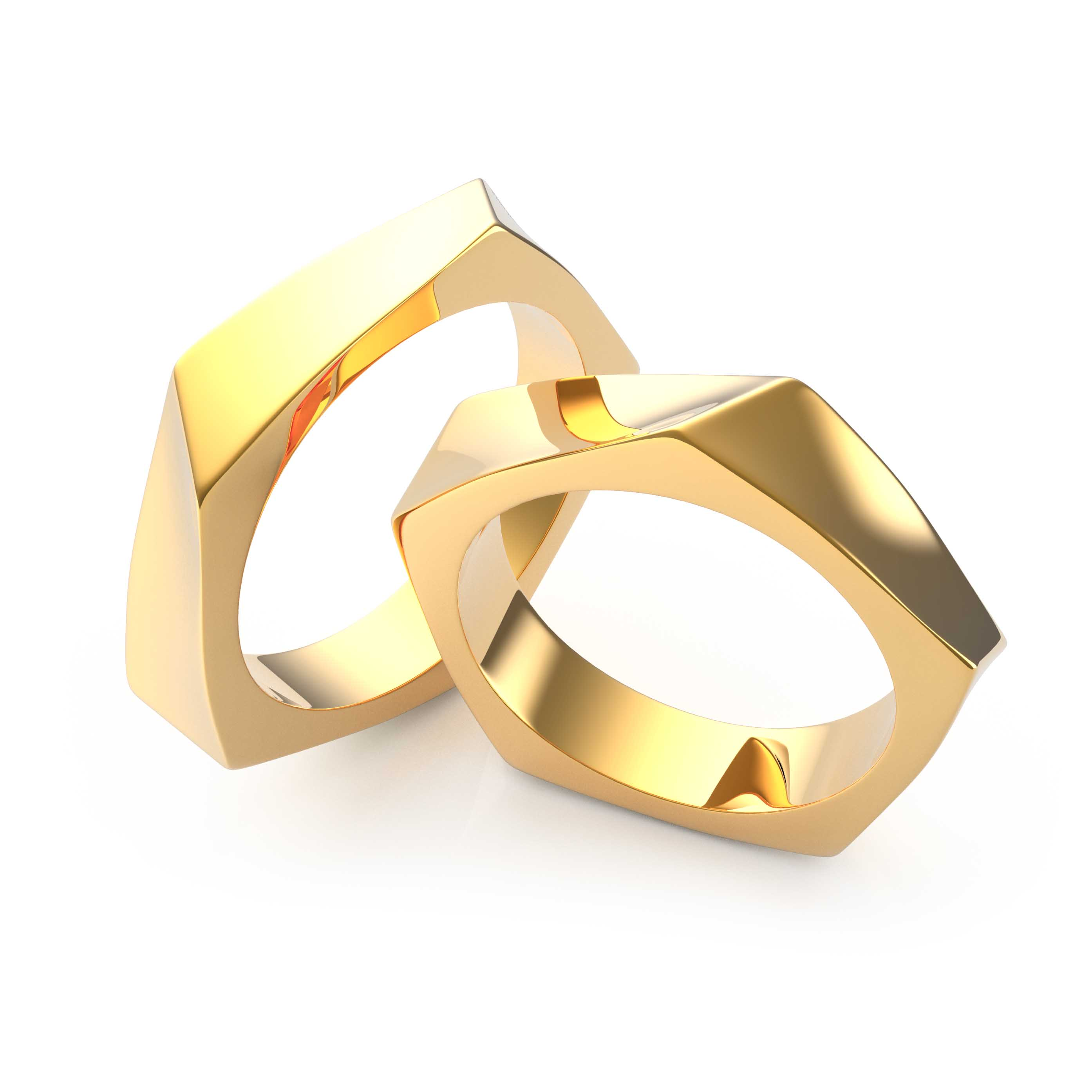 Wedding Rings Gold - 3D Model