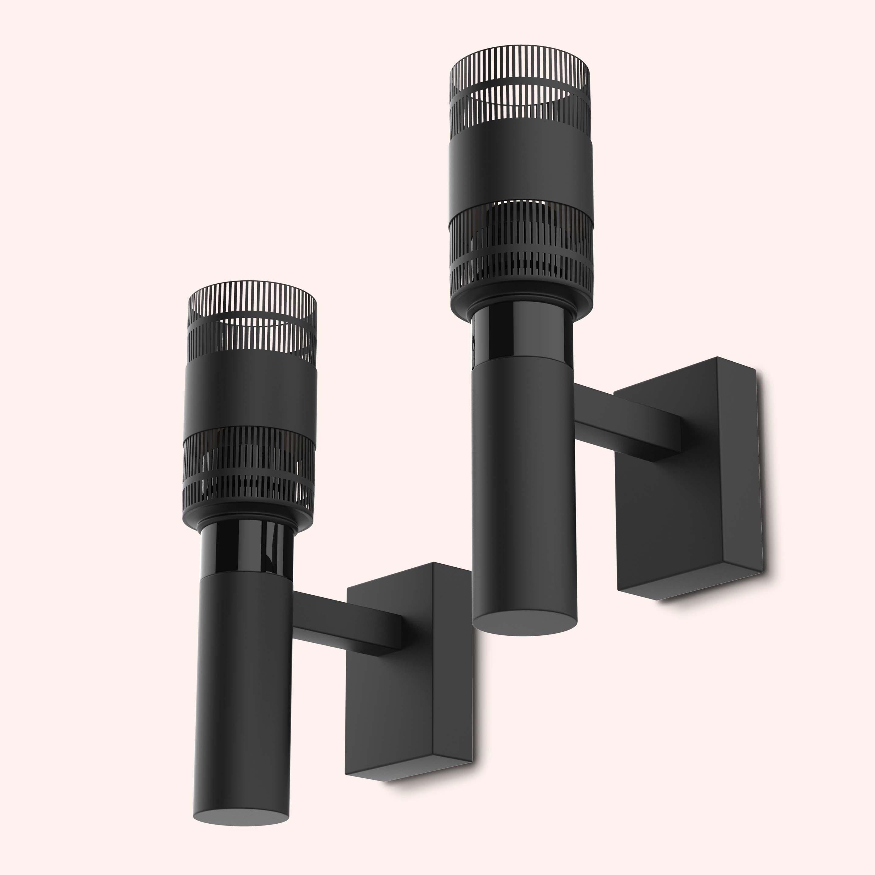 Minimalist Elegant Black Mouille Wall Lamp - 3D Model