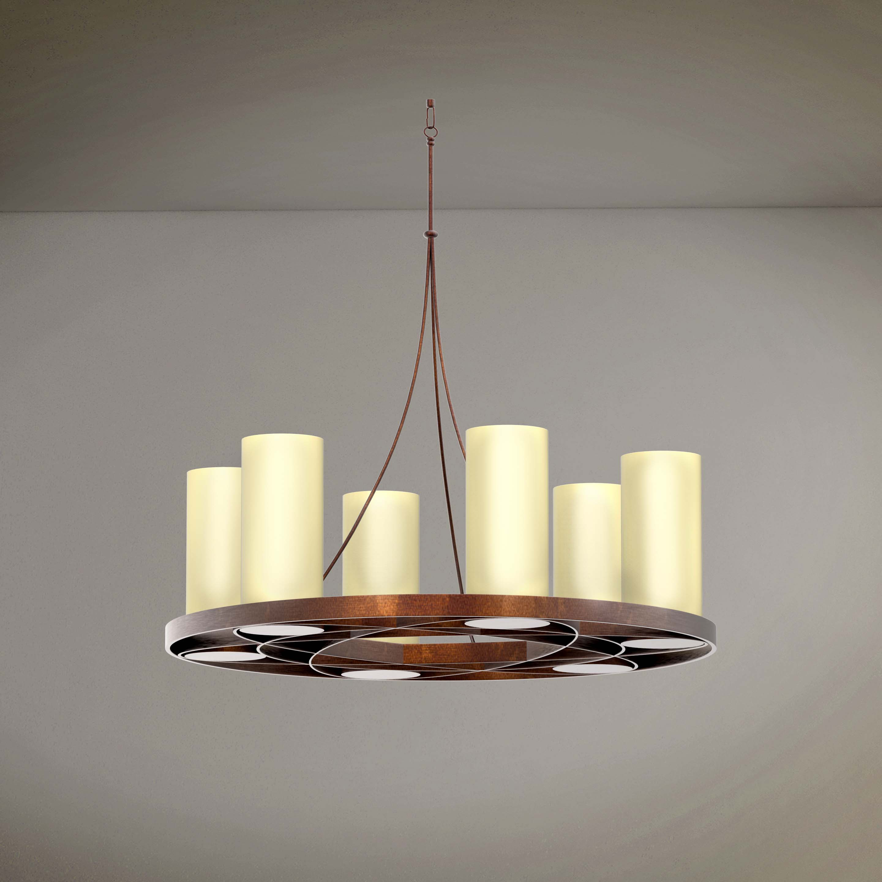 Vintage Candles Style Hanging Chandelier - 3D Product