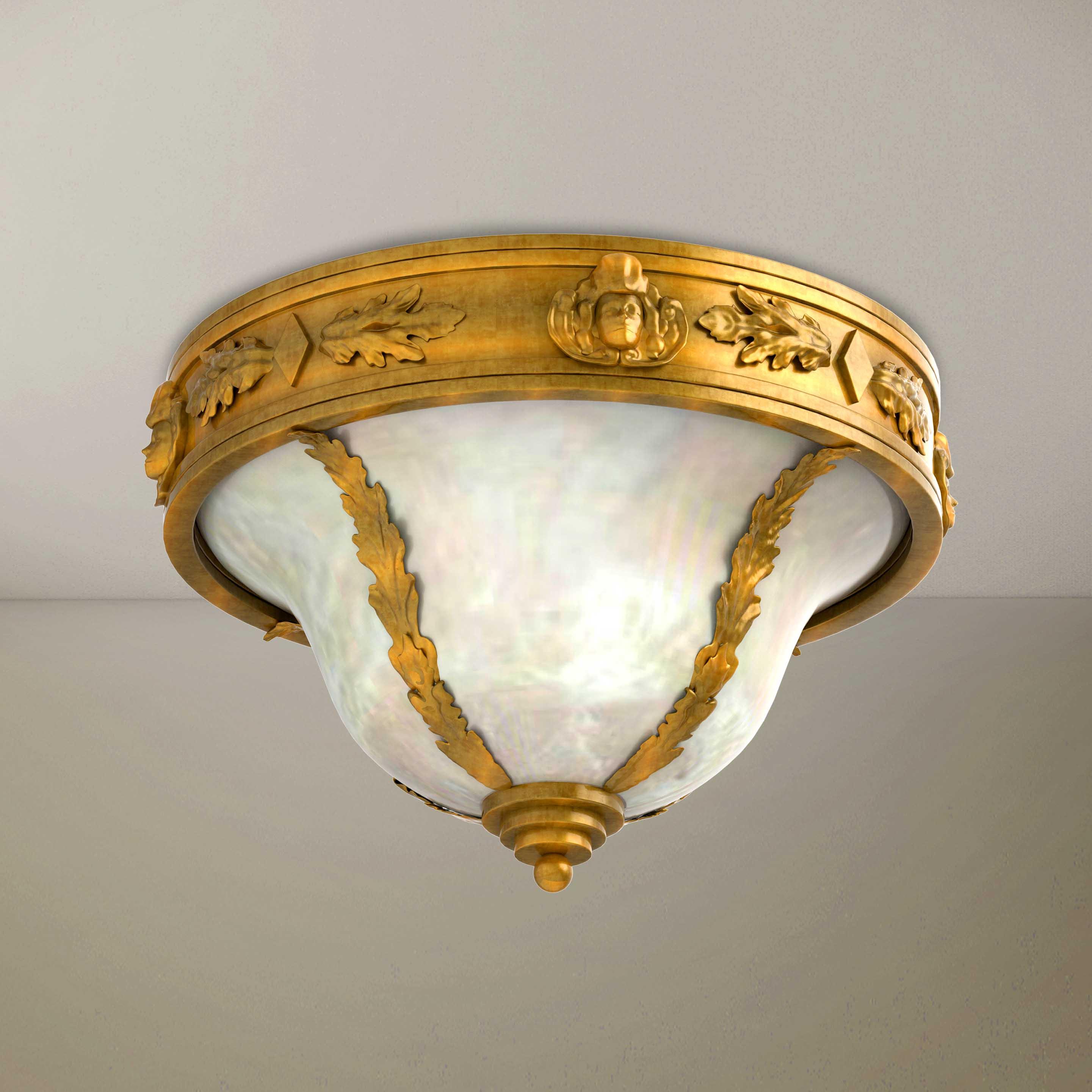Golden Luxury Elegant Chandelier - 3D Product