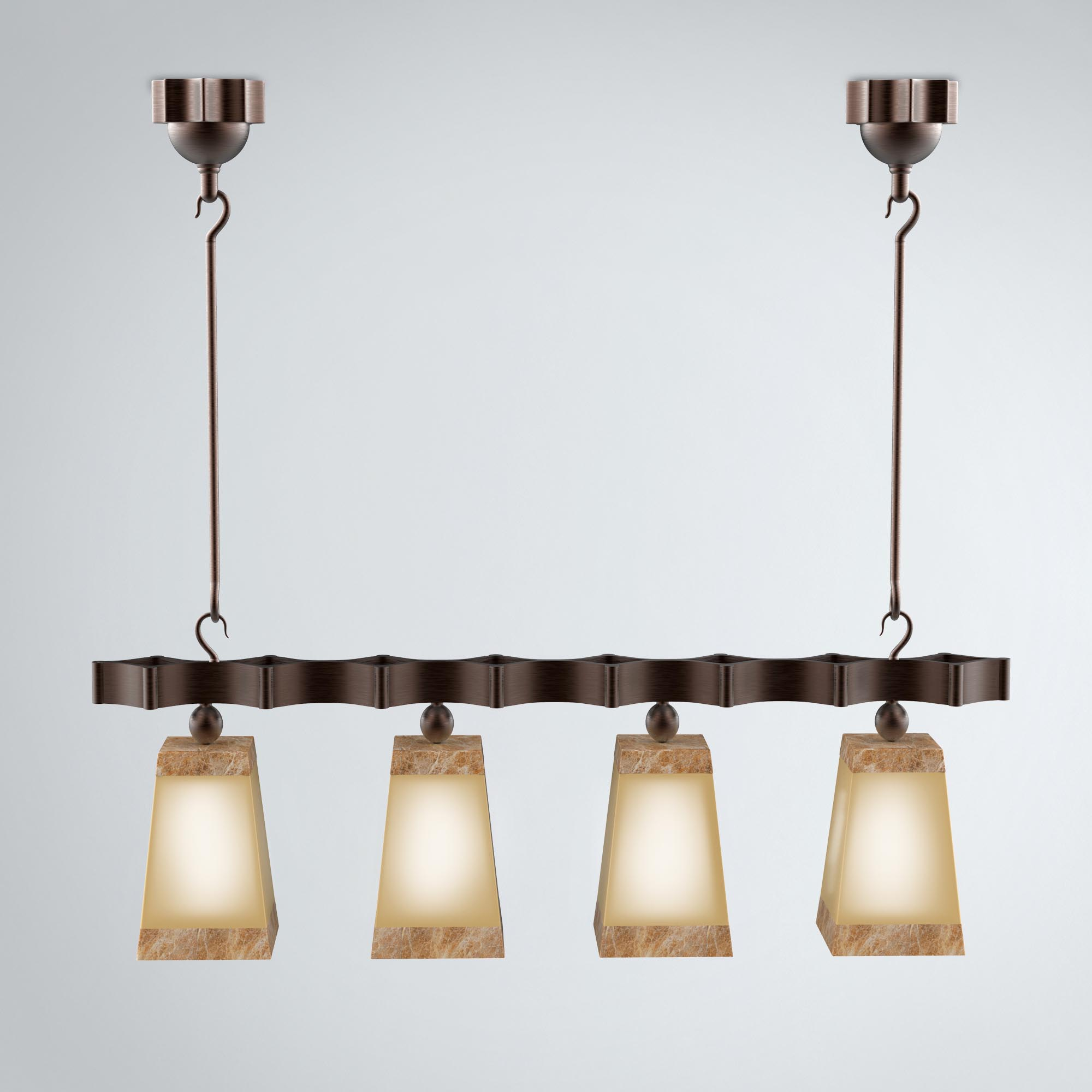 Modern Hanging Chandelier - 3D Product