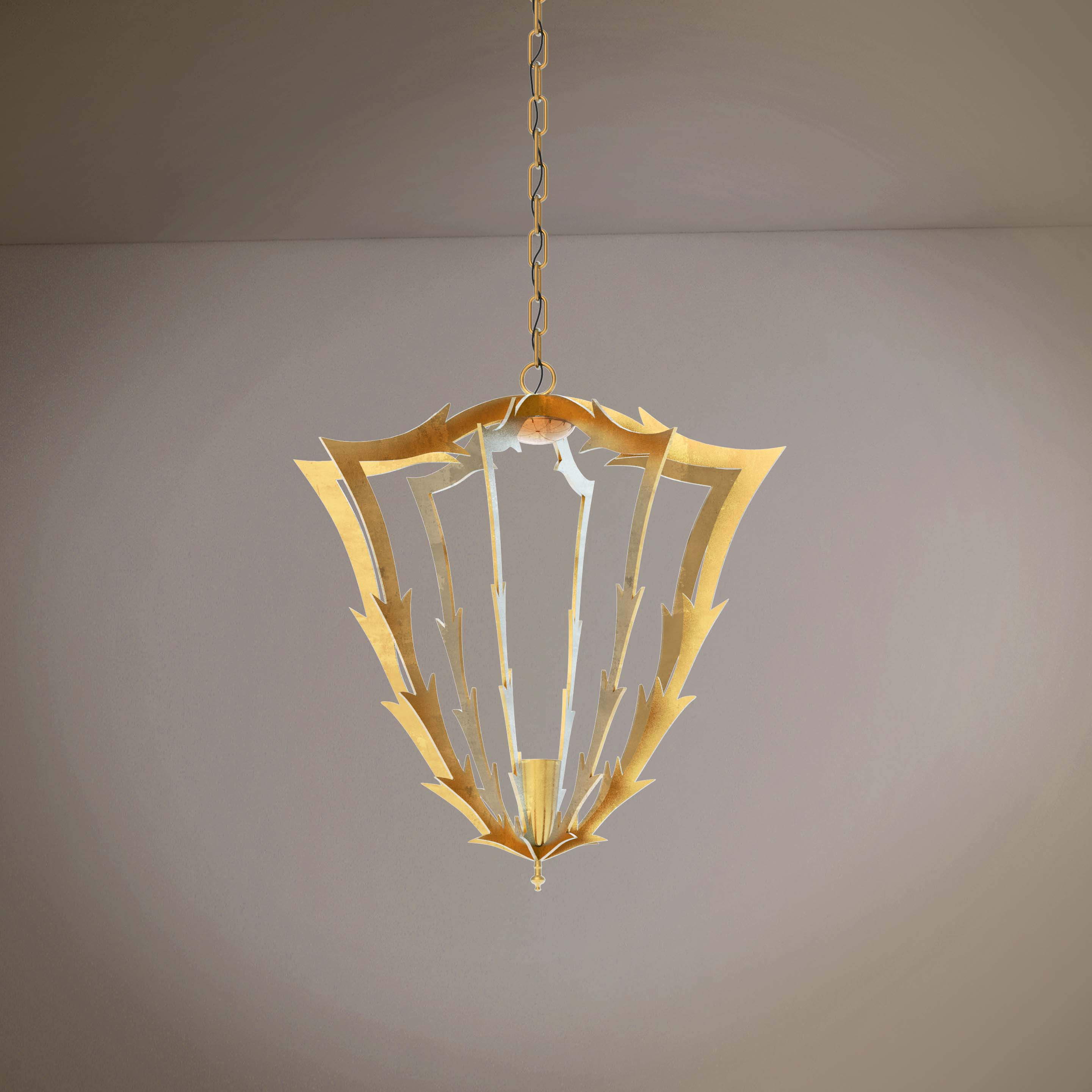 Golden Luxury Lightning Ornaments  Chandelier - 3D Product