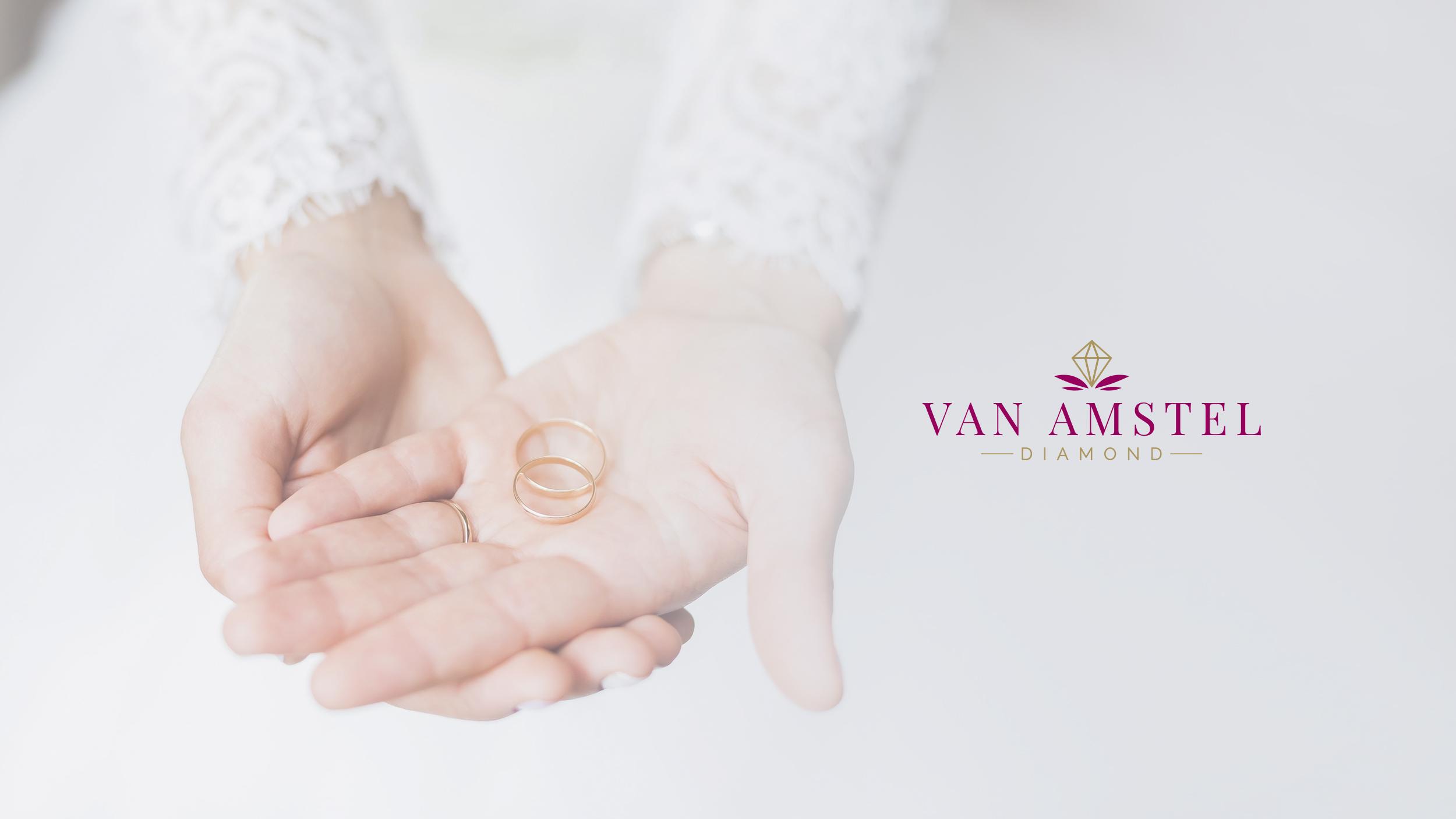 Van Amstel Logo Gentle Present Hands Design