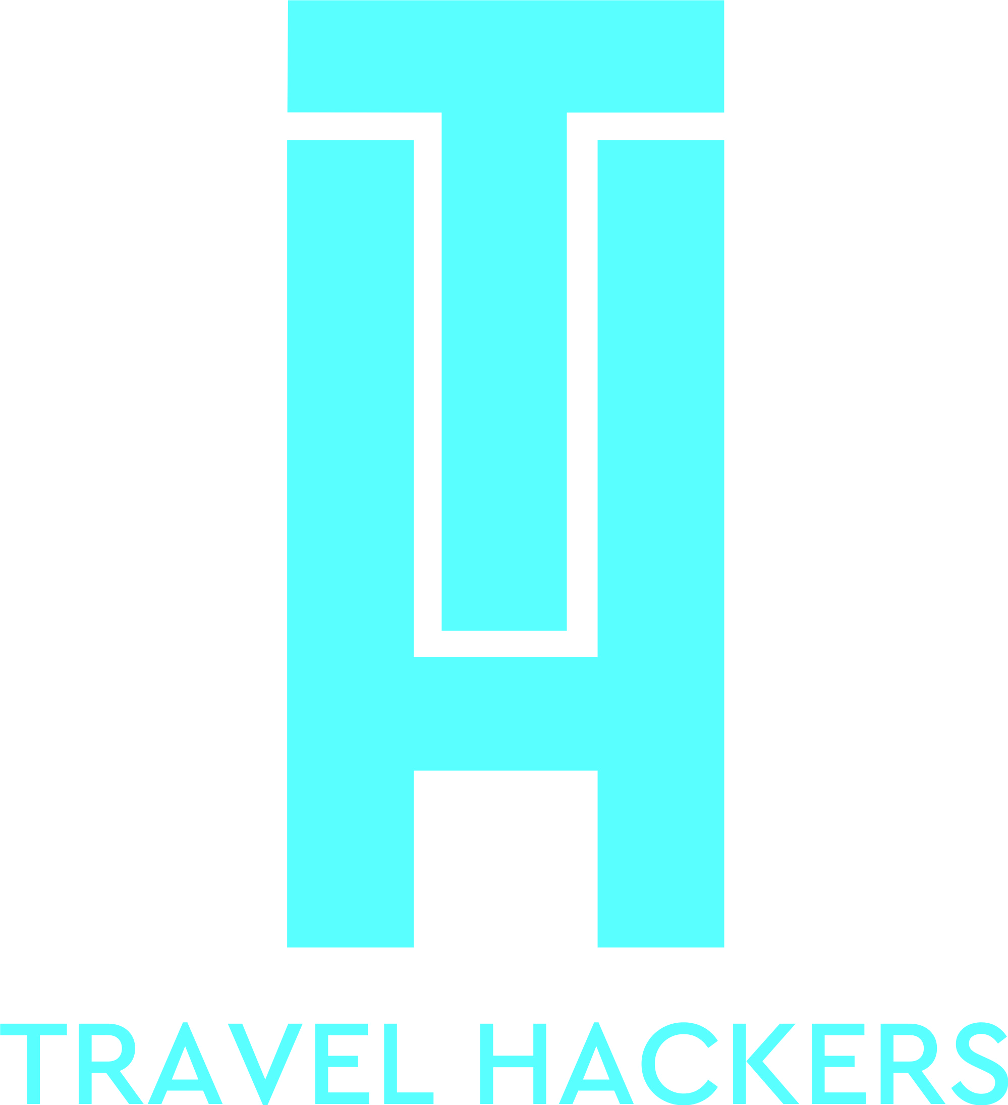 Travel Hackers Logo Design Blue Version