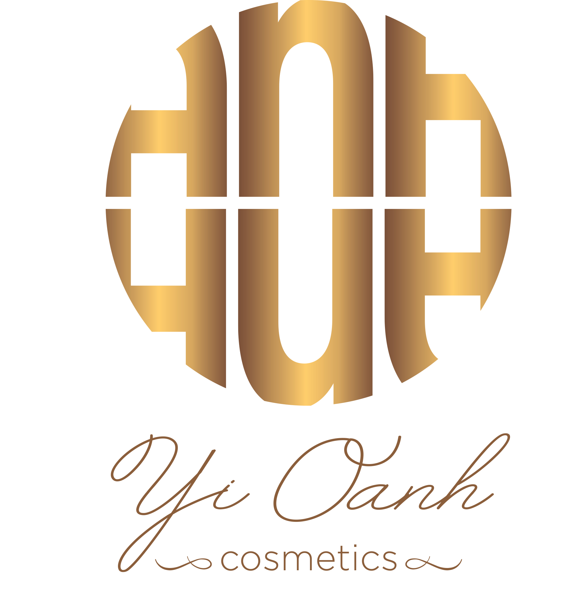 Yi Oanh Cosmetics Gold Luxury and Lovely Gentle Logo design