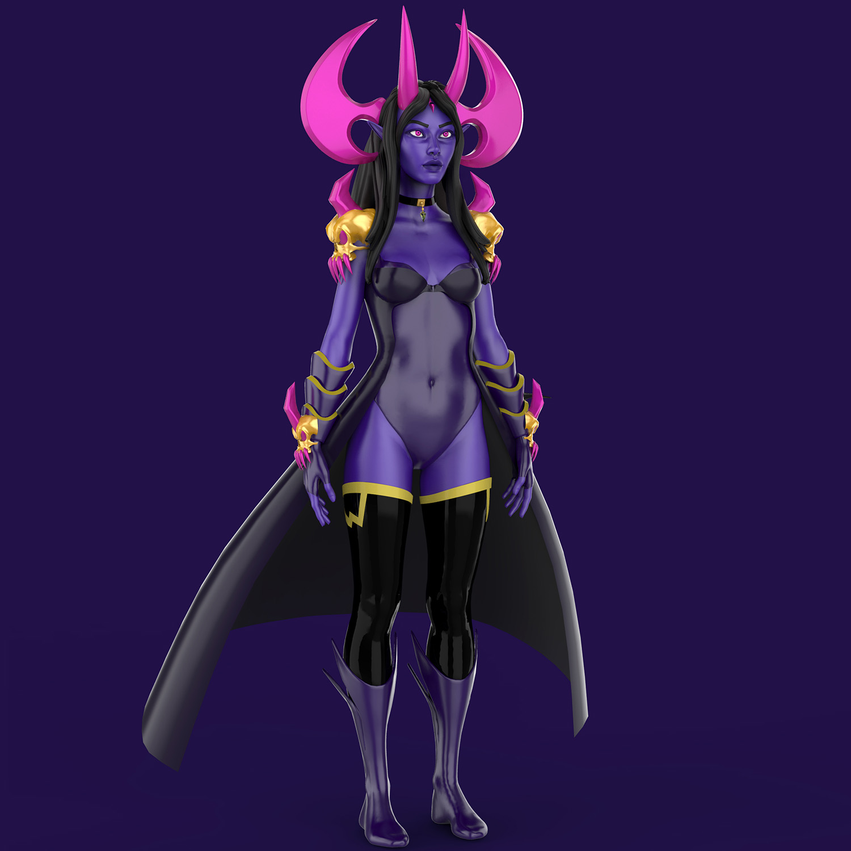 Dracelia Character Design for Video Games 3D Model FRONT