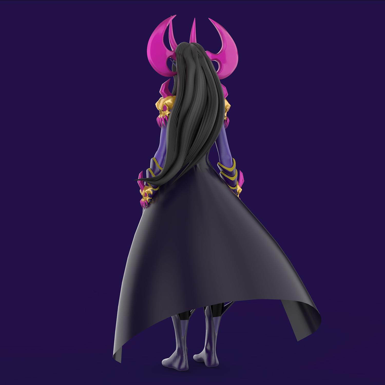 Dracelia Character Design for Video Games 3D Model BACK